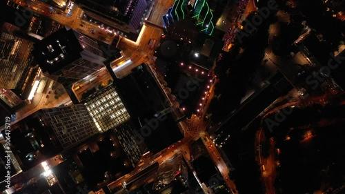 Carta da parati  Aerial view of Hong Kong Skyline at night