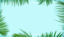 Palm Leaves Decorated On The S...