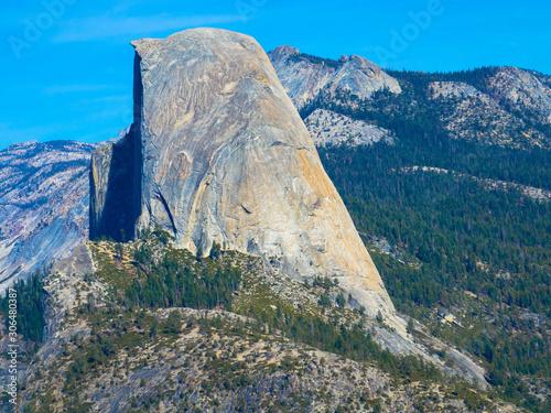 Fotografie, Obraz Nahaufnahme vom Half Dome, Granitkuppel im Yosemite-Nationalpark, Kalifornie