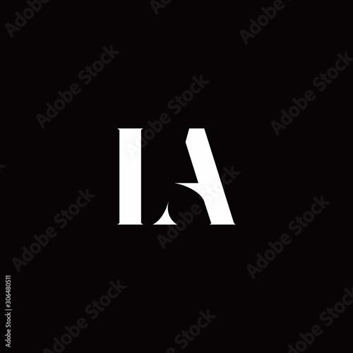 Photo LA Logo Letter Initial Logo Designs Template