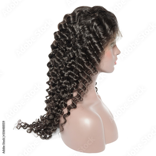 deep wave curly black human hair weaves extensions lace wigs Tablou Canvas