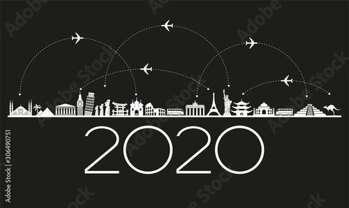 Obraz 2020 travel and tourism background - fototapety do salonu