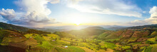 Panorama Aerial View Sunlight ...