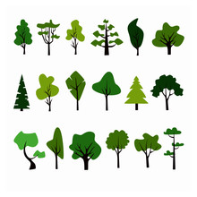 Flat Forest Tree Icon. Pine, S...
