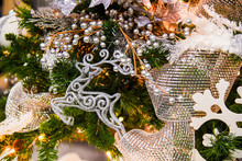 White Ornaments Decorations On...