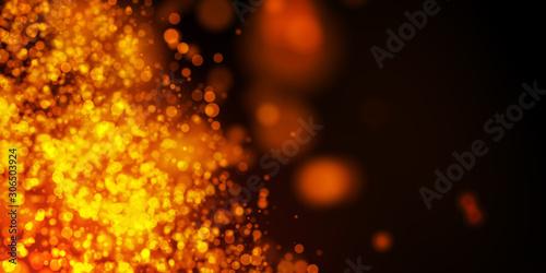 Fototapeta sfondo, fondo, bokeh, luci, calore, scintille, magia