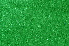 Green Glitter Texture Background