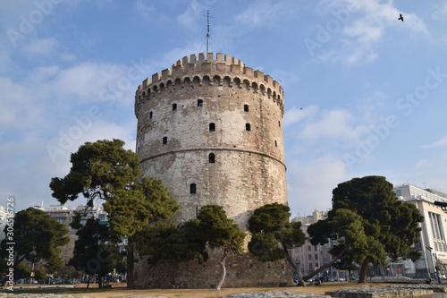 Fototapeta Biała wieża w Salonikach obraz