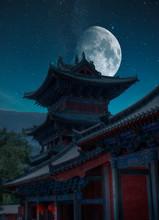 Shaolin Monastery At Night
