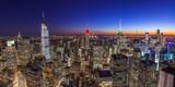 Fototapeta Nowy Jork - New York City Manhattan midtown buildings skyline evening night