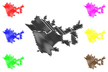 Santa Clarita City (United States Cities, United States Of America, Usa City) Map Vector Illustration, Scribble Sketch City Of Santa Clarita Map