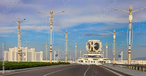 Photo ASHGABAT, TURKMENISTAN - May 14, 2019: View of the wedding palace