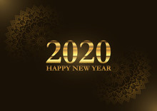 Decorative Happy New Year Background With Mandala Design
