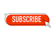 Red Rounded Subscribe Button O...