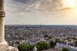 Panoramablick auf Paris vom Platz vor der Sacré-Cœur de Montmartre