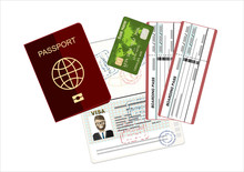 Passport, Credit Card And Airl...