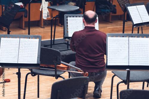 Fototapeta Musicians, orchestra and musical instruments obraz na płótnie