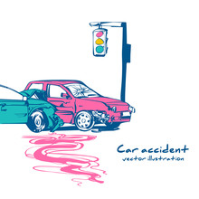 Car Accident Concept. Transpor...