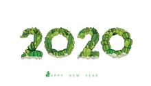 Vector Happy New Year 2020 Tex...