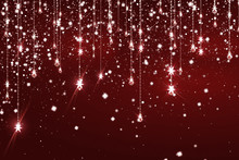 Beautiful Burgundy Background With Sparkles And Bokeh.