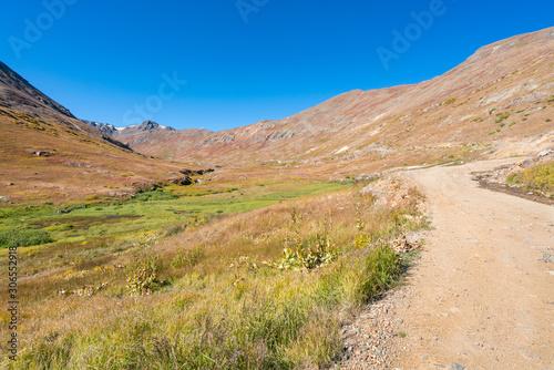 Mountain Road through the San Juan Mountains in Colorado