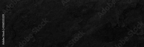 Obraz Stone black texture background. Dark cement, concrete grunge. Tile gray, Marble pattern, Wall black background blank for design - fototapety do salonu