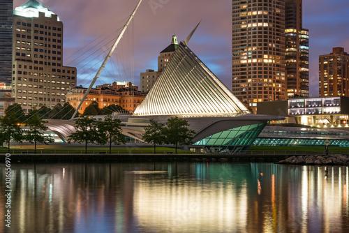 Muzeum Sztuki w Milwaukee w nocy