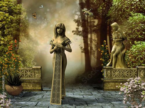 Fotografija Fantasy princess in garden