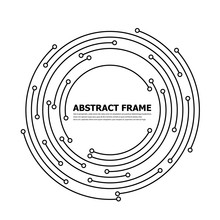 Abstract Technology Round Fram...