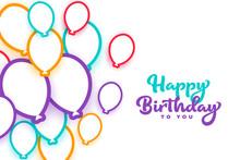 Happy Birthday Colorful Balloo...