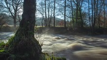 Time Lapse, River Esk In Flood...