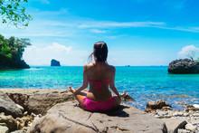 Healthy Woman In Bikini Relaxi...