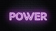 violet neon video animation power