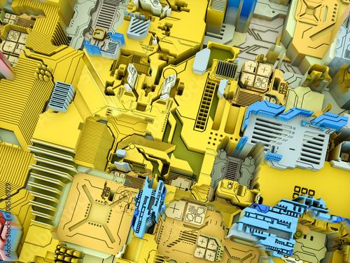 canvas print motiv - agsandrew : 3D Extrusion Technology