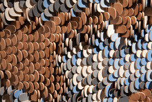 Carved Wood Texture With Scale Pattern
