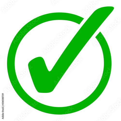 Photo Green check mark icon