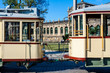 canvas print picture - Eine historische Straßenbahn in Dresden, Deutschland