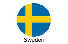 Swedish Flag Icon, Sweden Country Flag Vector Illustration