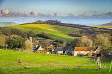 English Village In A Valley In...