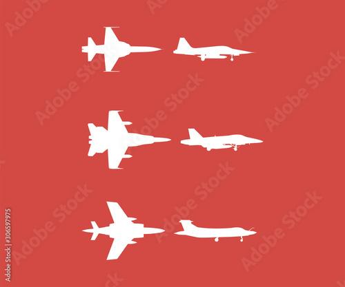 Photo  warcraft set icon sign design red background
