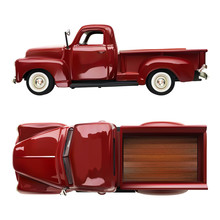 Old Vintage Classic Pickup Red...