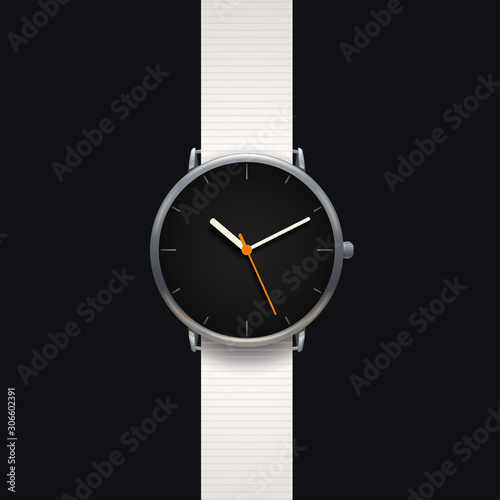 modern classic watch on black background Wall mural