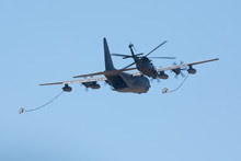 C-130J Air Refueling  A Black Hawk Helicopter