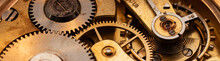 100 Years Old Pocket Watch Mechanics Close Up Strip