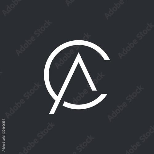 CA Logo. CA Letter Icon Design Vector Illustration. Wallpaper Mural