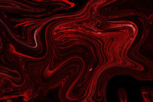 Red And Black Liquid Color. Ab...