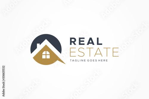 Black Gold Real Estate Logo Wallpaper Mural