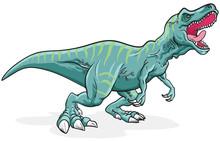 Tyrannosaurus Rex Dinosaur Illustration