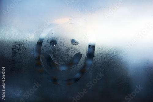 sorriso, smile, vetro appannato, vetro, ottimismo, Canvas Print