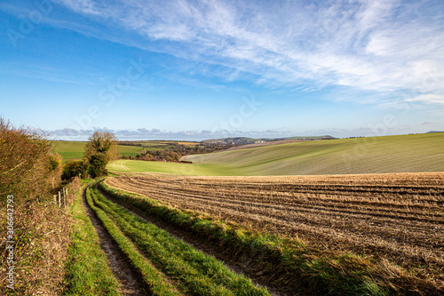 Fotomural  Looking out over farmland in Sussex, on a sunny winters day
